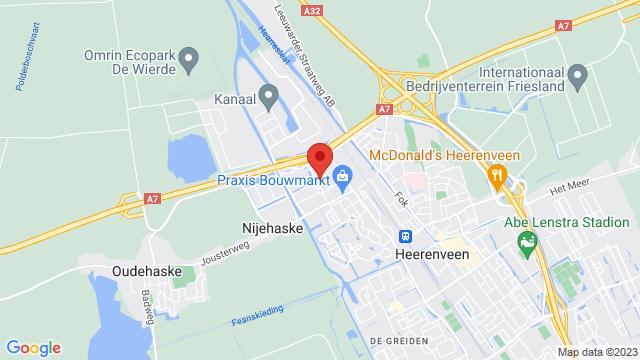 Heerenveen+Renault op Google Maps
