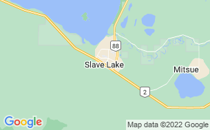 Map of Lesser Slave Lake/Marten River Campground