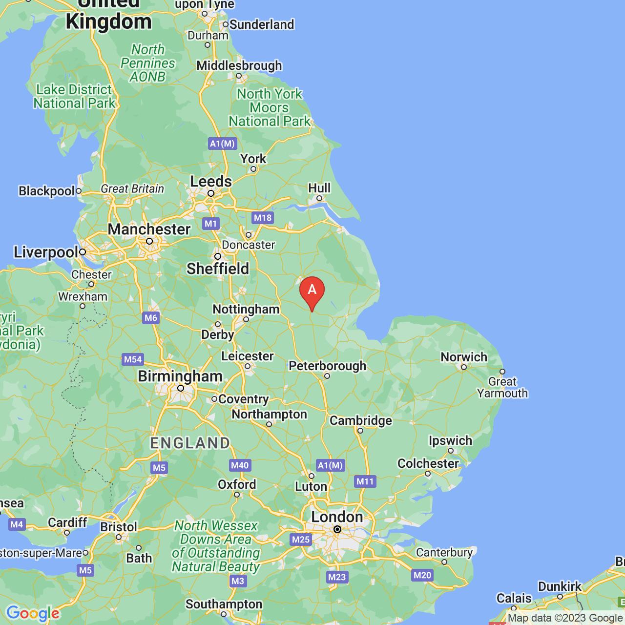 Sleaford, England Map