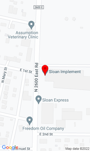 Google Map of Sloan Implement Co. 1650 Business Highway 18 & 151, Mount Horeb, WI, 53572