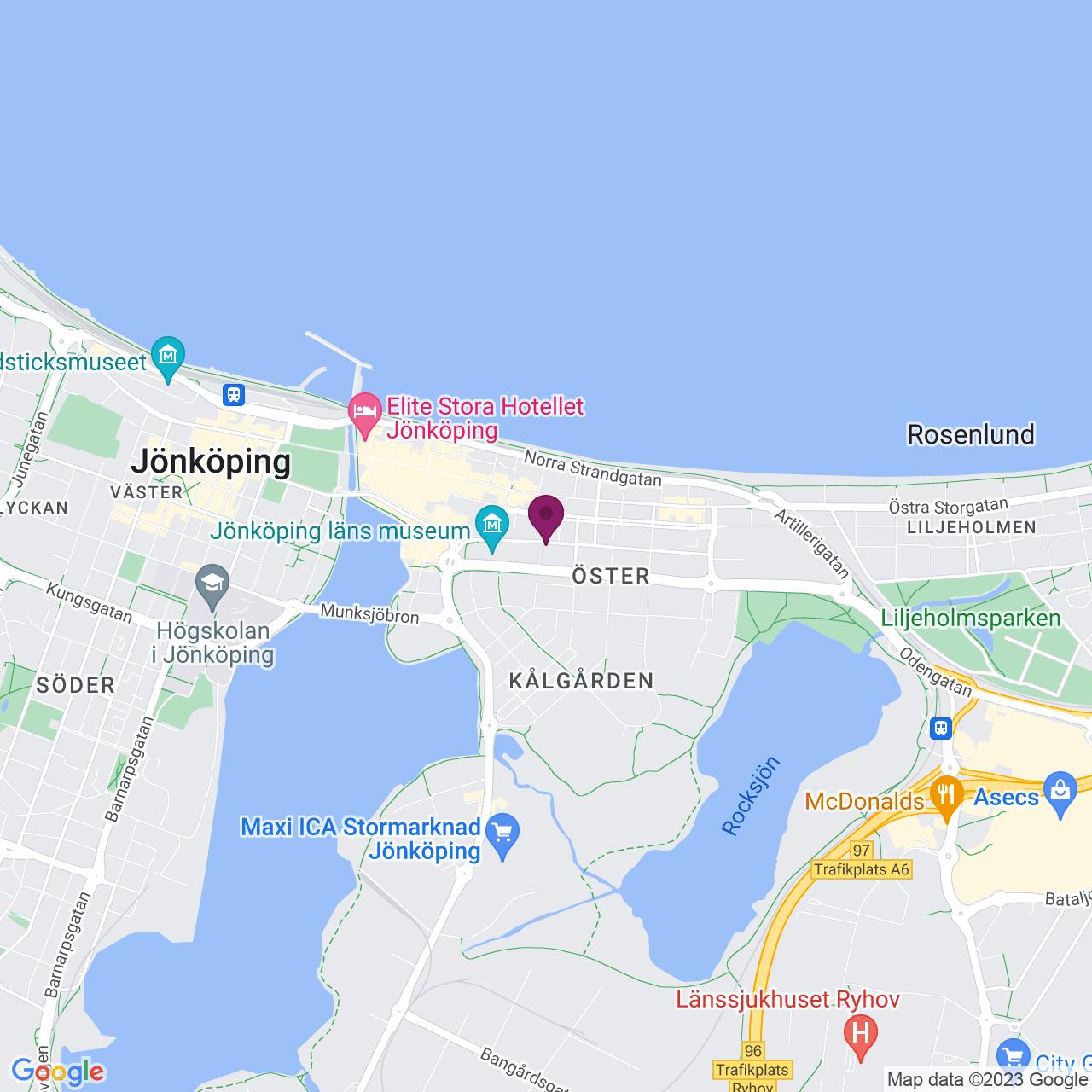 Karta över Slottsgatan 14