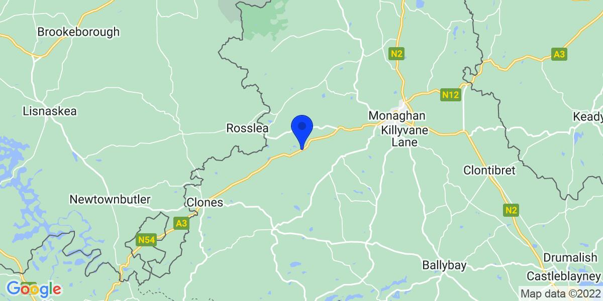 Google Map of Monaghan, Ireland