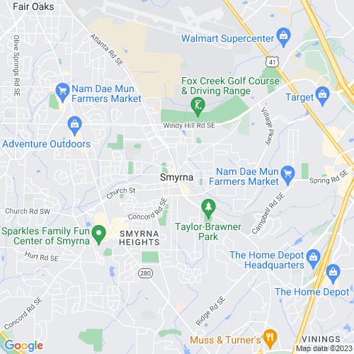 Map of Smyrna, GA