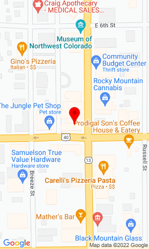 Google Map of Snare Equipment 308 Yampa Avenue, Craig, CO, 81625