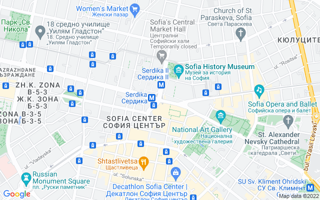 Show map of Sofia