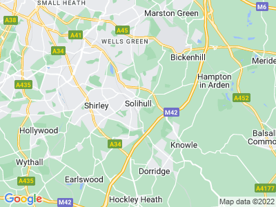Car crash injuries in Solihull