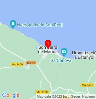 Google Map of Son Serra de Marina, Baleares, Spain