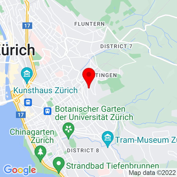 Google Map of Toblerstrasse 51 8044 Zürich Schweiz