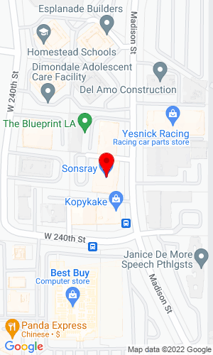 Google Map of Sonsray Machinery 23935 Madison Street, Torrance, CA, 90505