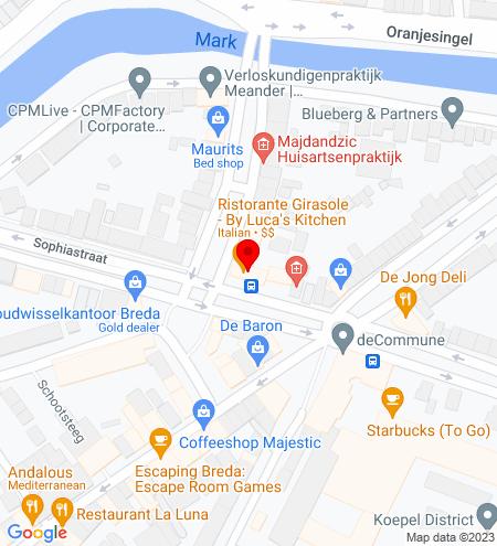Google Map of Sophiastraat 14 4811 EK Breda