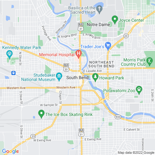Map of South Bend, IN