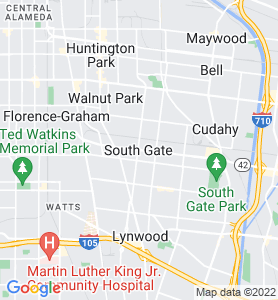 South Gate CA Map