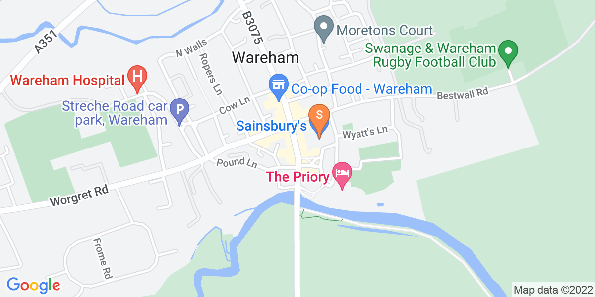 Google Map of South Street Wareham BH20 4NX