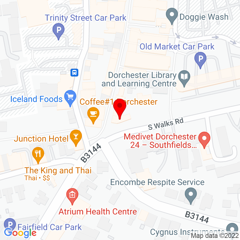 Google Map of South Walks House, Dorchester