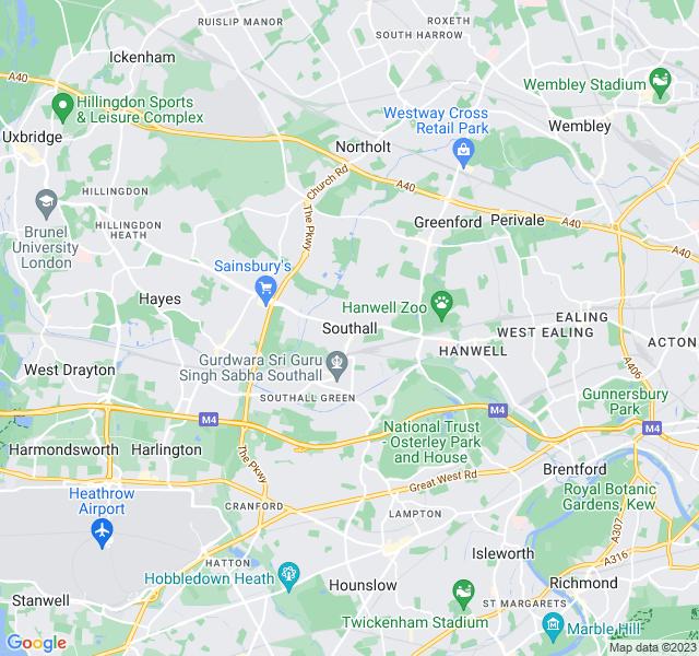 Website Designer Southall Google map of location