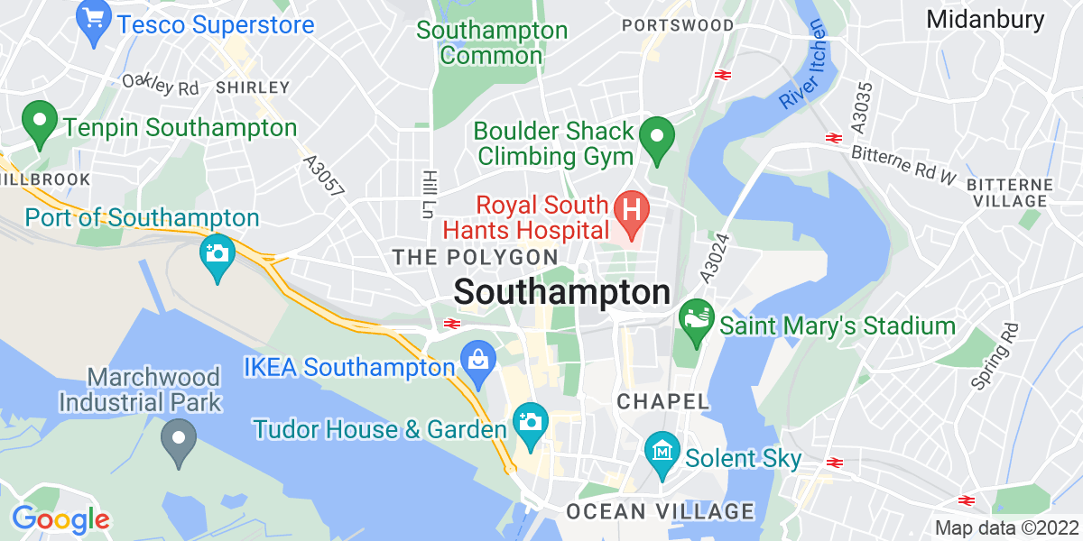Map: Cover Supervisors  ASAP job role in Southampton