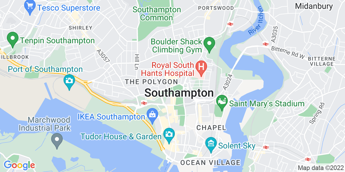 Map: Laboratory Assistant - Evenings job in Southampton