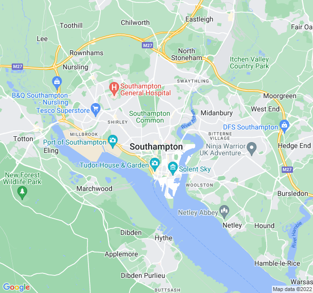 Website Designer Southampton Google map of location