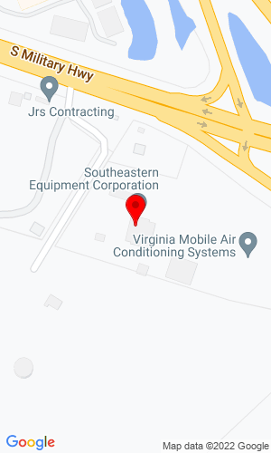 Google Map of Southeastern Equipment Corporation 2506 S. Military Highway, Chesapeake, VA, 23320