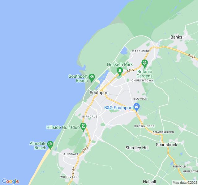 Website Designer Southport Google map of location