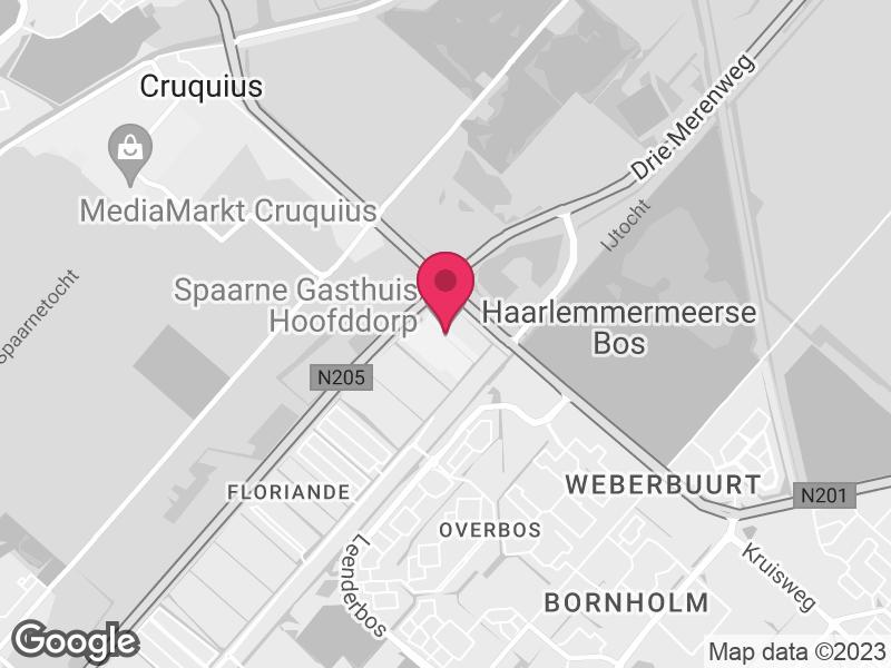 Google Map of Spaarne Gasthuis Spaarnepoort 1 2134 TM Hoofddorp