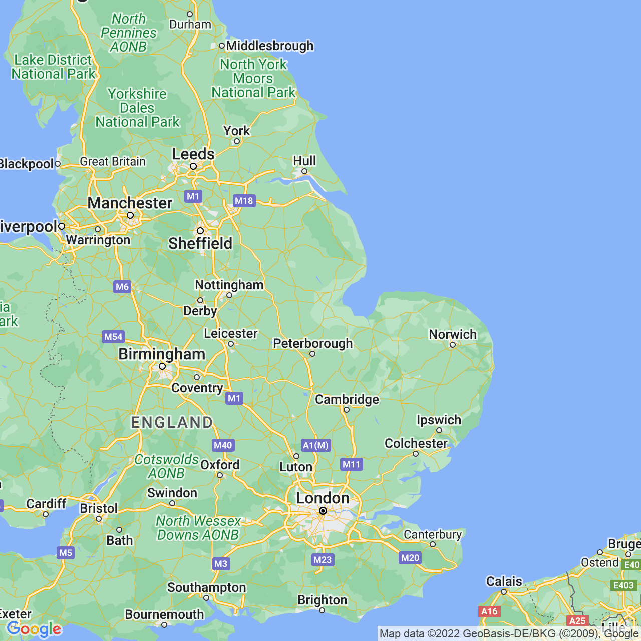 Spalding, England Map