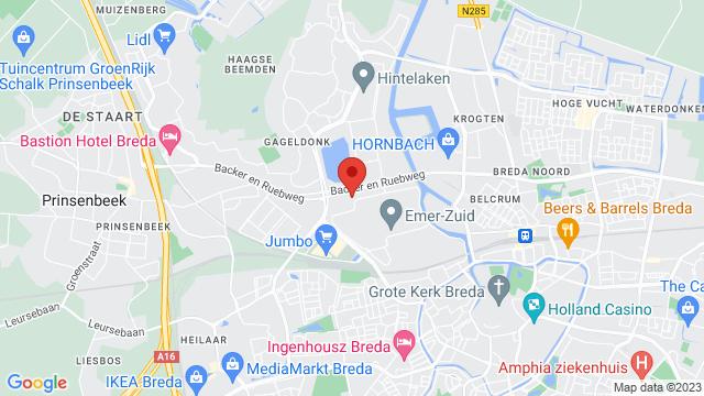 Breda op Google Maps