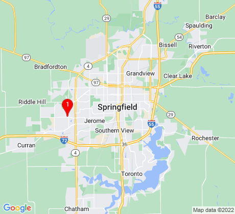 Google Map of Springfield, IL