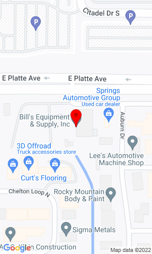 Google Map of Springs Contractor Supply 3455 E Platte Ave, Colorado Springs, CO, 80902
