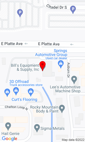 Google Map of Springs Contractor Supply 3455 E Platte Ave, Colorado Springs, CO, 80902,