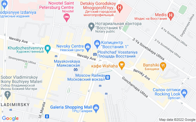 Show map of St Petersburg