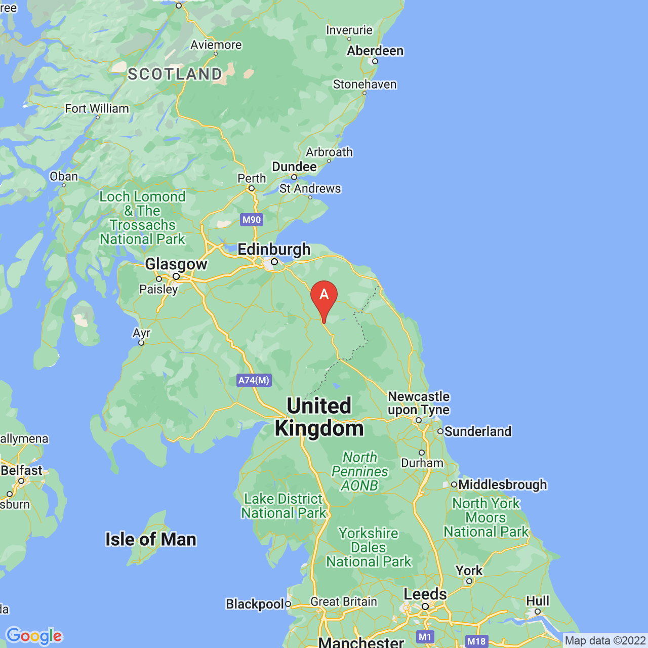 St Boswells, Scotland Map