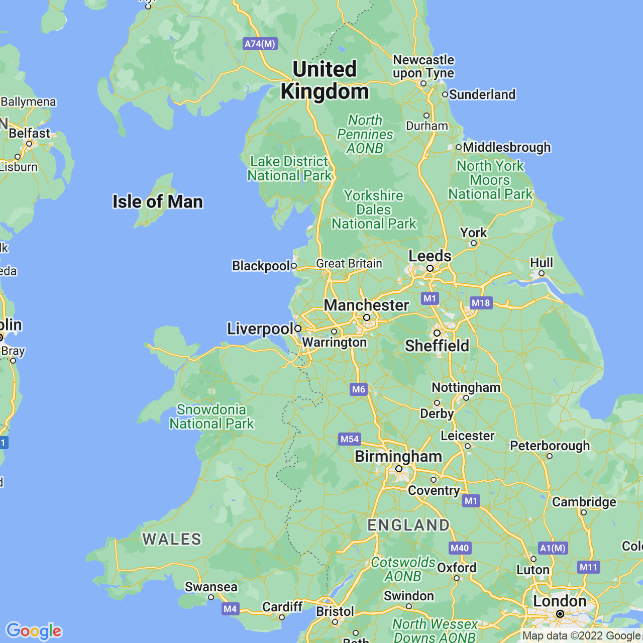 St Helens, England Map
