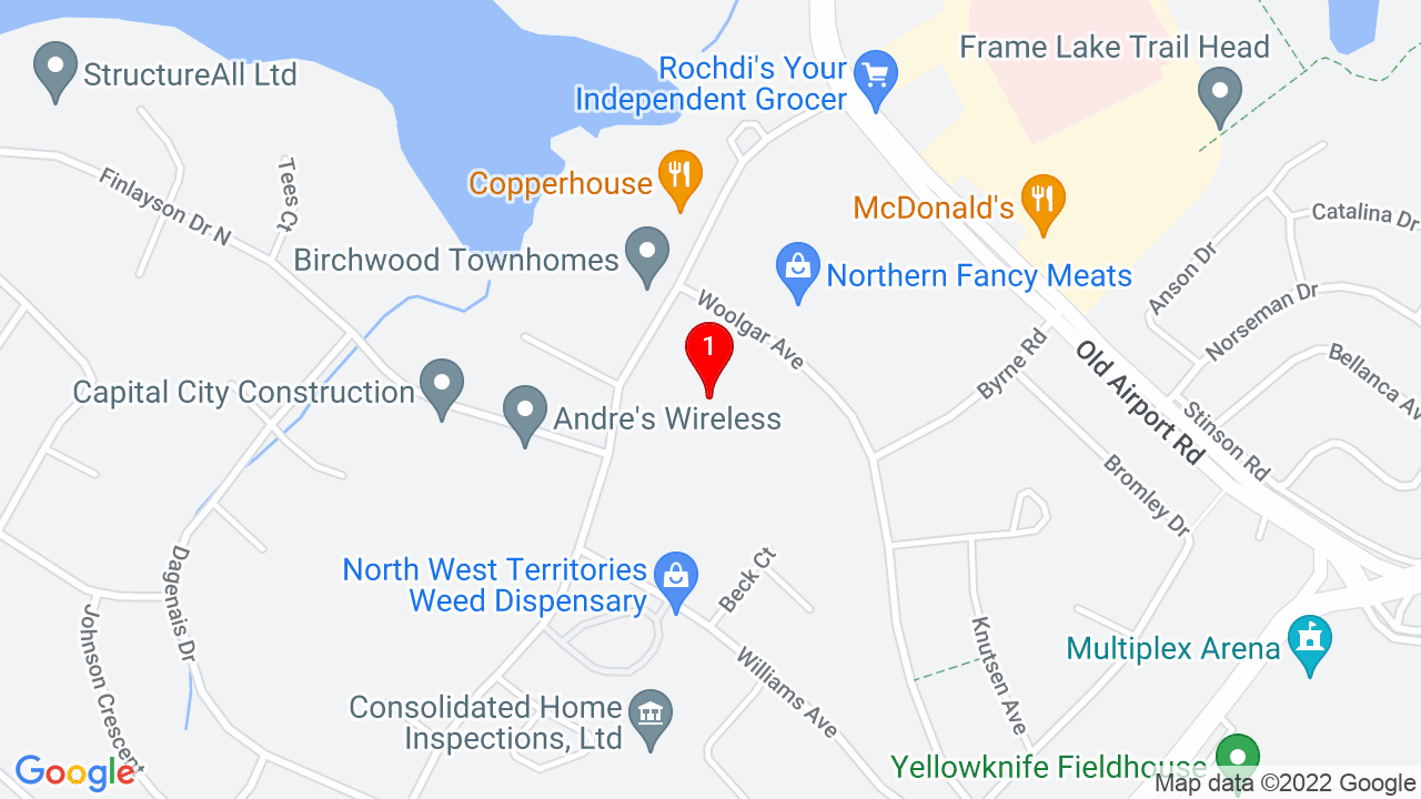 Google Map of St. Joseph School Yellowknife