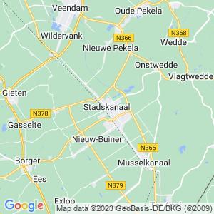 Werkgebied van onze bestrijder in Stadskanaal