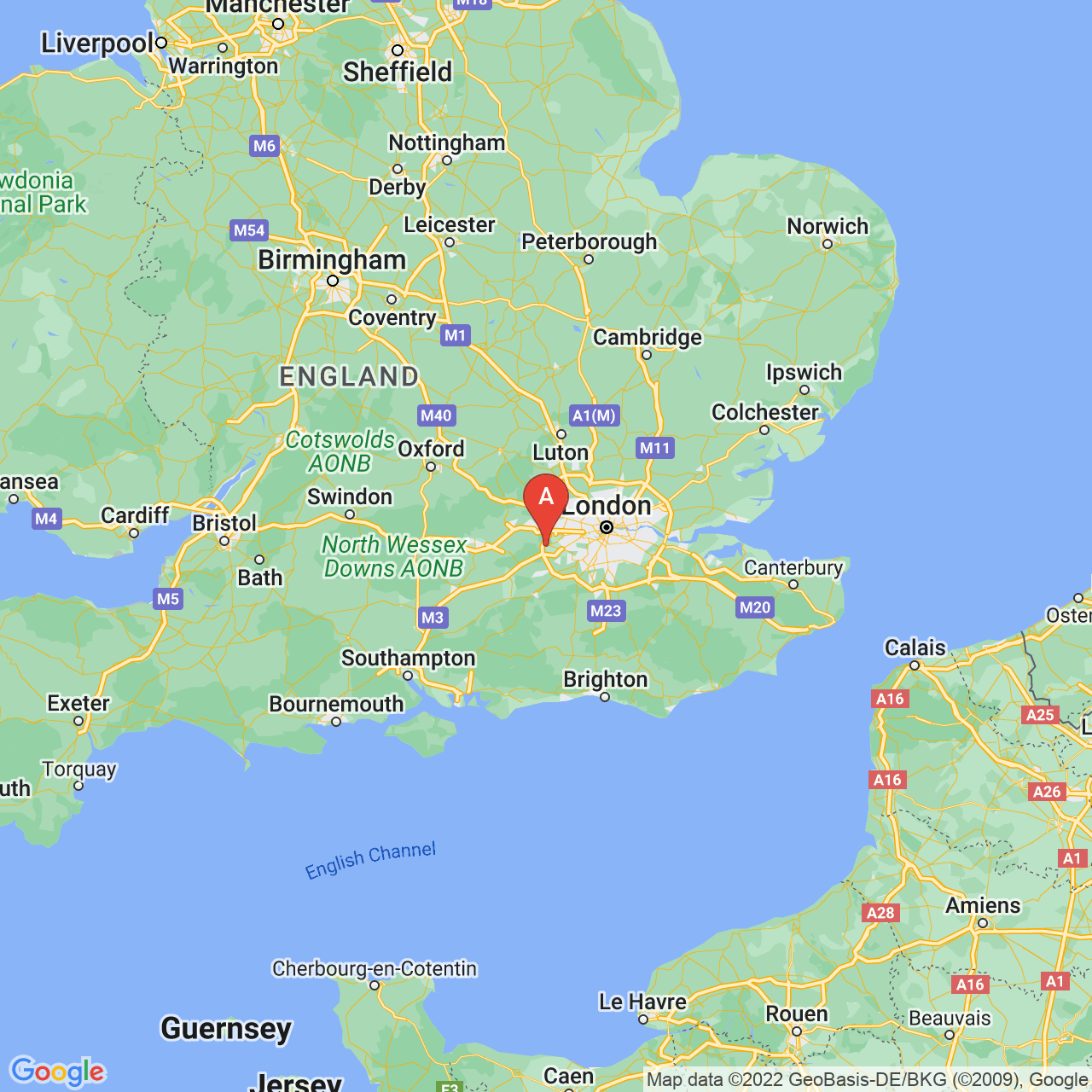 Staines, England Map