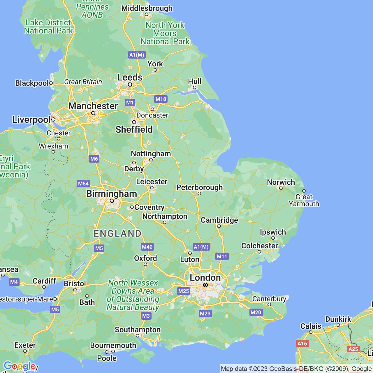 Stamford, England Map