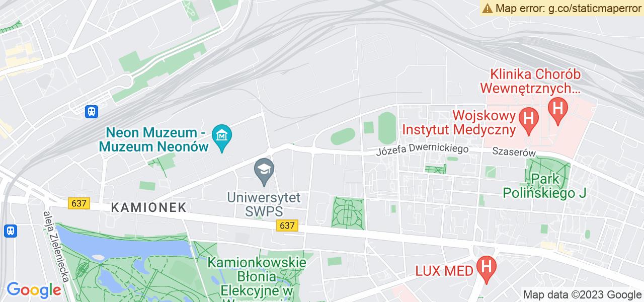 Jedna z ulic w Stanisławowie – Warszawska i mapa dostępnych punktów wysyłki uszkodzonej turbiny do autoryzowanego serwisu regeneracji