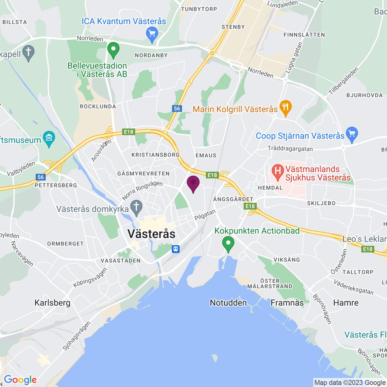 Karta över Stansargränd 2