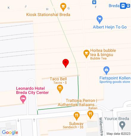 Google Map of Stationsplein 36 4811 BB Breda