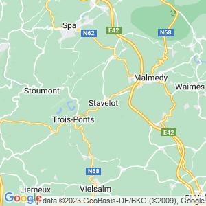 Werkgebied van onze bestrijder in Stavelot