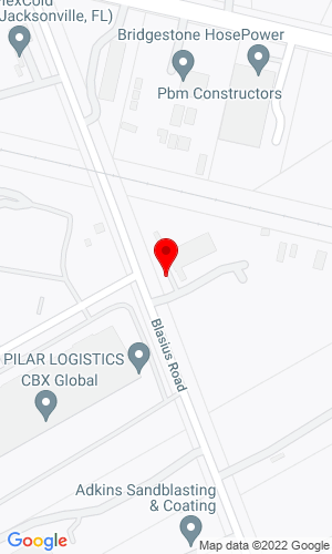 Google Map of Sterett Heavy Hauling-South 11075 Blasius Road, Jacksonville, FL, 32226