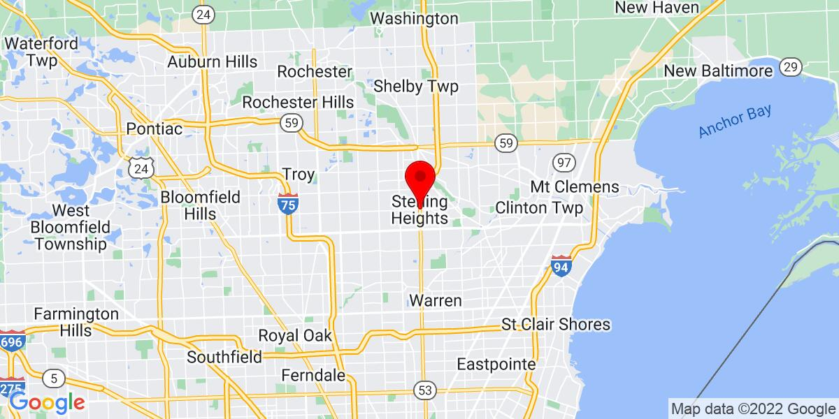 Google Map of Sterling Heights, MI
