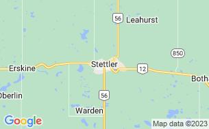 Map of Stettler Rotary Park
