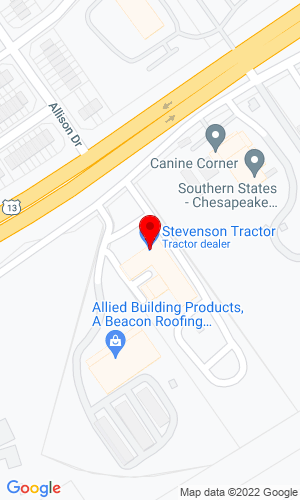Google Map of Stevenson Tractor, Inc. 1792 S. Miltary Highway, Chesapeake, VA, 23320