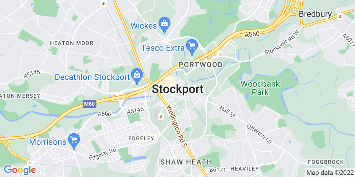 Map: Accounts Payable Clerk position in Stockport