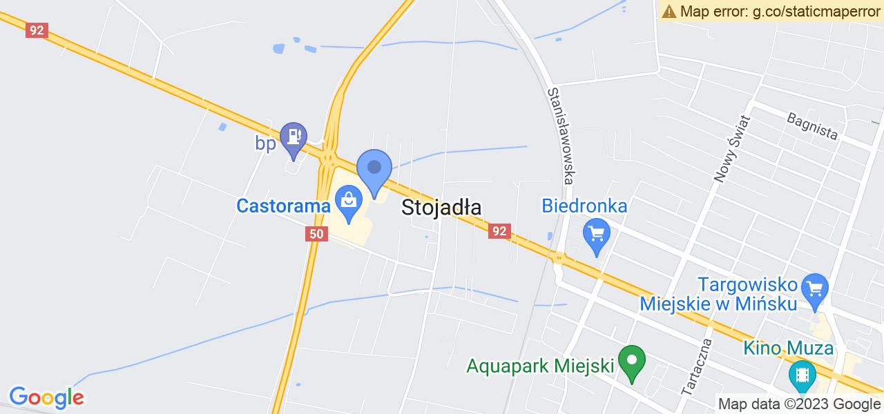 Jedna z ulic w Stojadłach – Leśna i mapa dostępnych punktów wysyłki uszkodzonej turbiny do autoryzowanego serwisu regeneracji