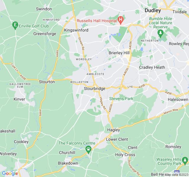 Website Designer Stourbridge Google map of location