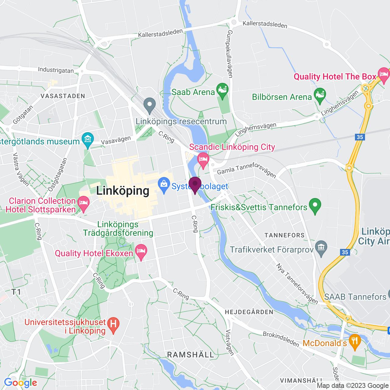 Karta över Strandgatan 2