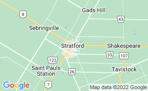 Map of Stratford Trailer Park